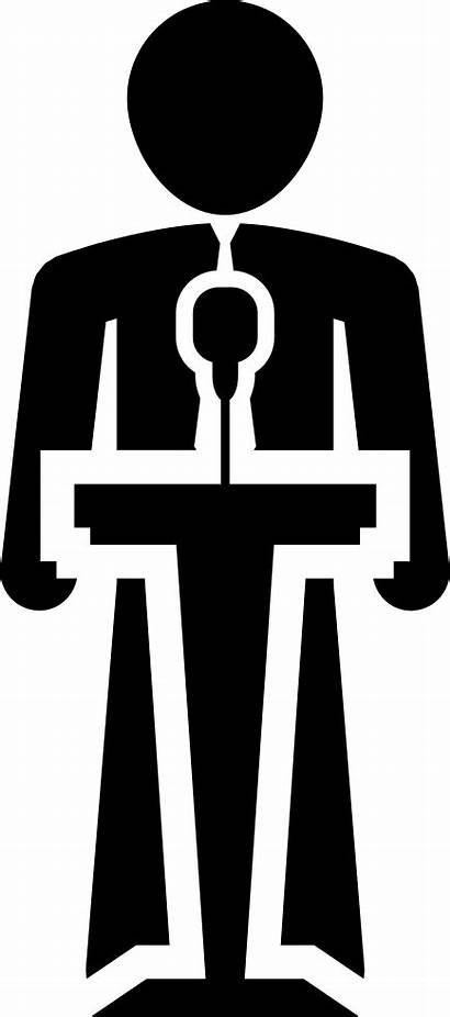 Human Icon Clipart Stand Speaking Svg Transparent