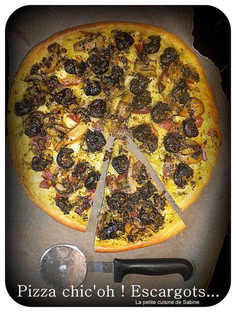 recette de pizza aux escargots  pesto