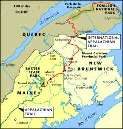 International Appalachian Trail Map