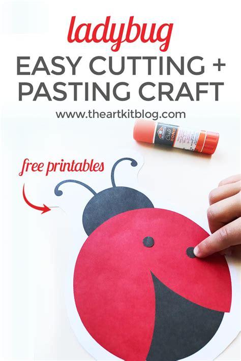 ladybug cutting  pasting activity  kids