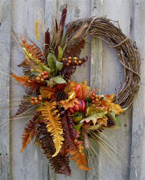 autumn wreath fall wreaths autumn woodland wreath designer decor