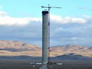 Huge Solar Tower to Power Las Vegas at Night | Ubergizmo