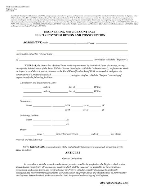 electrical contract  templates word docs
