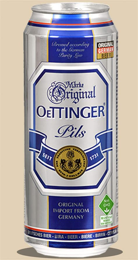 Oettinger Pils Cans 500mL - Dan Salmon A/S