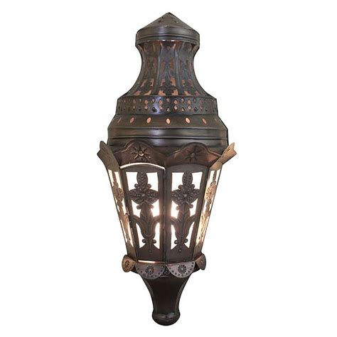 mexican tin lighting collection tres hojas wall sconce