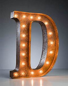 vintage marquee lights letter d d is for pinterest With marquee letter d