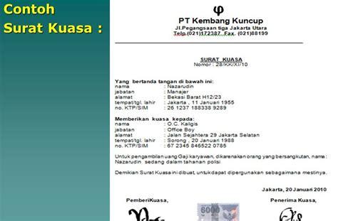 Surat Kuasa Menandatangani Tax Amnesty by Contoh Surat Kuasa Untuk Tax Amnesty Put