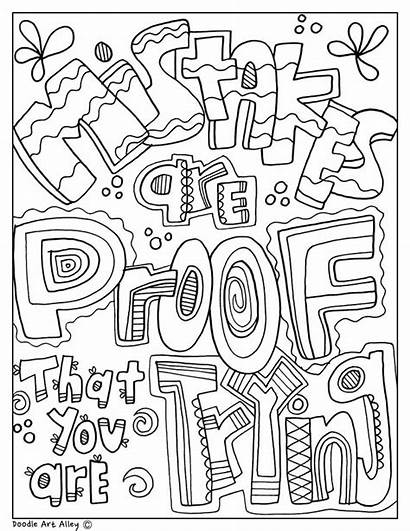 Quotes Doodles Classroom Coloring Pages Mistakes Doodle