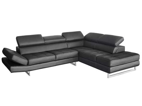 canapé en cuir conforama canapé d 39 angle fixe droit 5 places en cuir leman coloris
