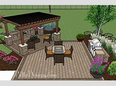 Patio with Pergola Over Fireplace Area Outdoor