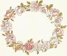 Vintage Flower Clip Art Circle