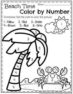 summer preschool worksheets preschool colors number worksheets and worksheets