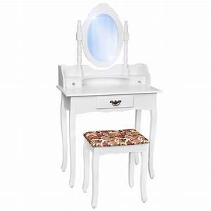 Coiffeuse Meuble Blanc : coiffeuse meuble table de maquillage tabouret commode avec miroir blanc ebay ~ Teatrodelosmanantiales.com Idées de Décoration