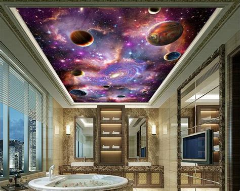 3d Galaxy Wallpaper For Ceiling by Space Galaxy 3d Ceiling Ceiling Mural Large Mural