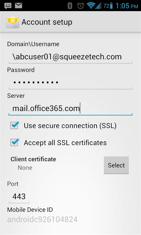 Office 365 Mail For Android by Android Email Setup Office 365 For Business Number One