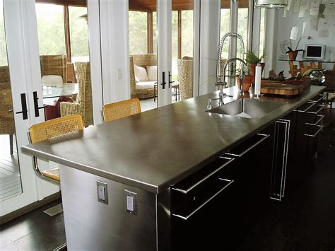 countertop for kitchen island stainless steel countertop brooks custom