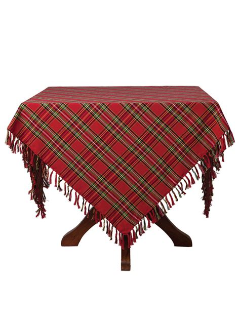 plaid tablecloths tartan plaid tablecloth your home christmas forever beautiful designs by april cornell