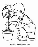 Coloring Pages Arbor Tree Boy Watering Planting Seedling Care Fire Truck Plant Trees Preschooler Print Coloringhome Getcoloringpages Earth Popular Honkingdonkey sketch template