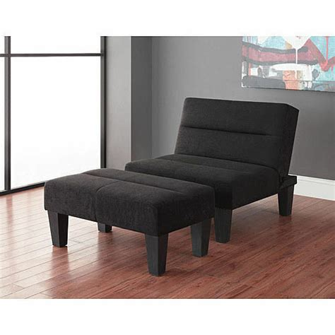 Bedroom Chairs With Ottoman by New Lounge Chair And Ottoman Futon Bundle Black Accent