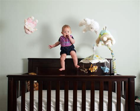 baby climbing out of crib stop toddlers from climbing out of crib popsugar