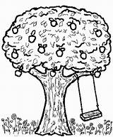 Tree Apple Swing Coloring Pages Swings Drawing Getcoloringpages Little Play Getdrawings 726px 24kb sketch template
