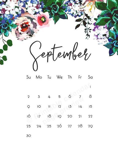 cute september  calendar images september calendar