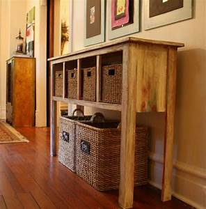 Console table with shoe storage my dream house pinterest for Hall table with shoe storage