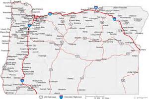 Map of Oregon Cities - Oregon Road Map Oregon