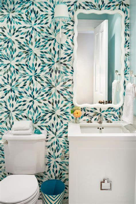 turquoise wall tiles top 20 bathroom tile trends of 2017 hgtv 39 s decorating