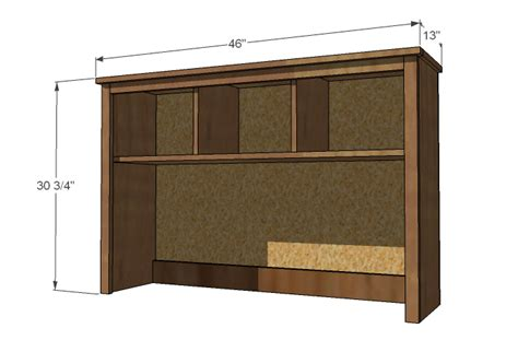 Desk With Hutch Plans by Pdf Diy Plans For Computer Desk And Hutch Plans