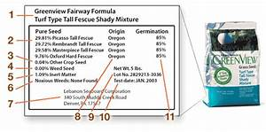 How To Read A Grass Seed Label  U2022 Greenview Fertilizer