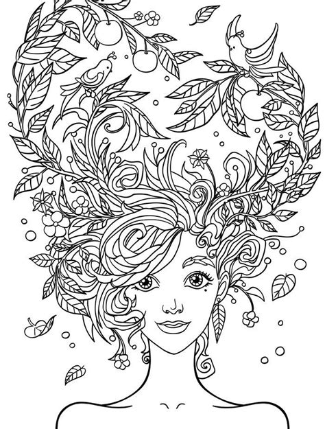 pretty coloring pages 10 hair coloring pages page 5 of 12 free