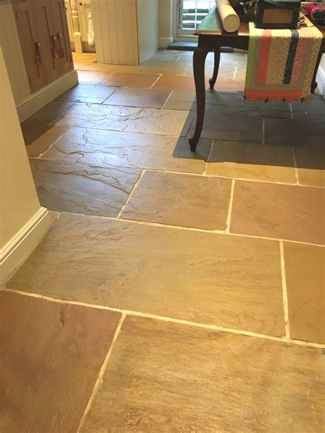 Restoring The Appearance Of A Kitchen Slate Tiles