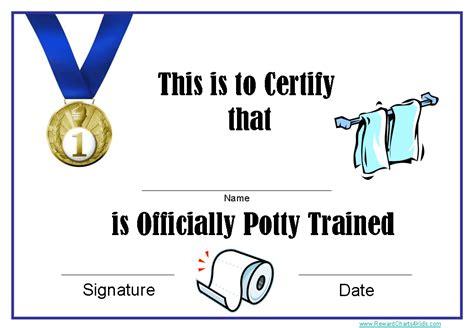 printable potty training award certificates instant