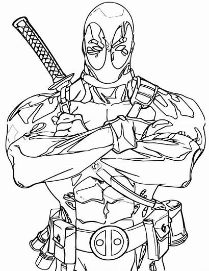 Deadpool Coloring Pages Deadpool1