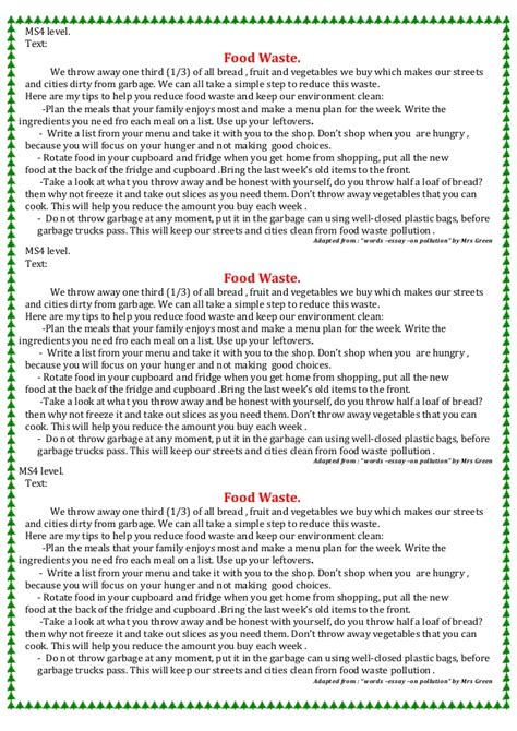 Ms4 Level (pollution ) Food Waste ( Text = File 1