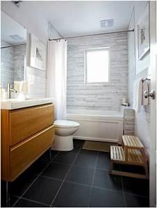 une salle de bains grise elegance et chic contemporain With salle de bain gris bois