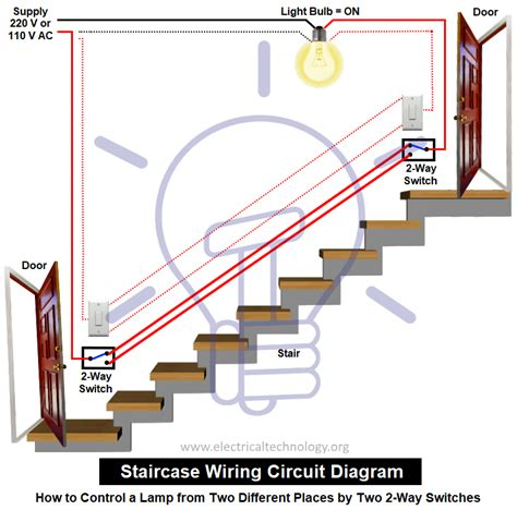staircase wiring circuit diagram how to a l