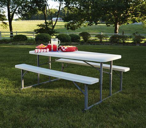 garden oasis molded folding picnic table