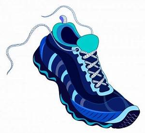 Blur clipart running shoe - Pencil and in color blur ...