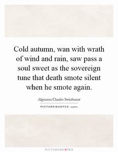 Cold autumn, wa... Autumn And Death Quotes