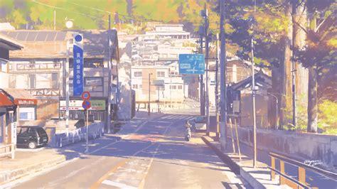 wallpaper anime landscape 2560x1440
