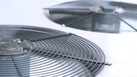 fans that cool like air conditioners fans stopping on air conditioning unit stock footage video