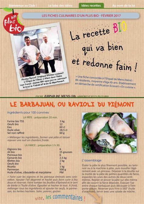 fiche technique recette cuisine la recette de l 39 ehpad de mens isère le barbajuan un