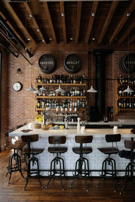 If not, you need to see this! 25 Best Corner Coffee Wine Bar   Coffee shop decor, Rustic coffee shop, Home bar decor