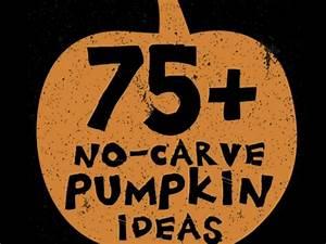 75+ No Carve DIY Halloween Pumpkin Decorating Ideas: The