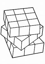 Cube Coloring Rubiks Rubik sketch template