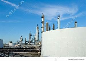 Image Of Oil Refinery Tanks