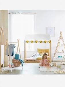 Lit Enfant Sol : lit cabane en bois bois vertbaudet ~ Nature-et-papiers.com Idées de Décoration
