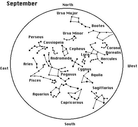 constellation chart worksheet september constellations printables search